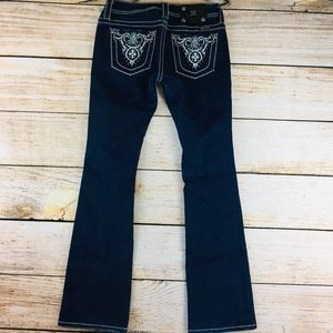 Miss Me boot cut dark embellished jeans